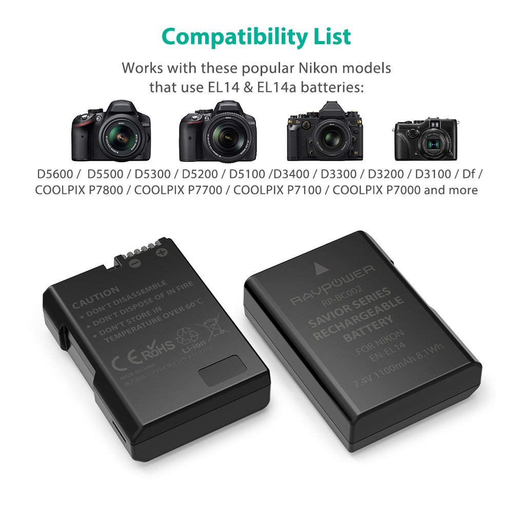 Amazon.com: Juego de cargador y baterías recargables ...