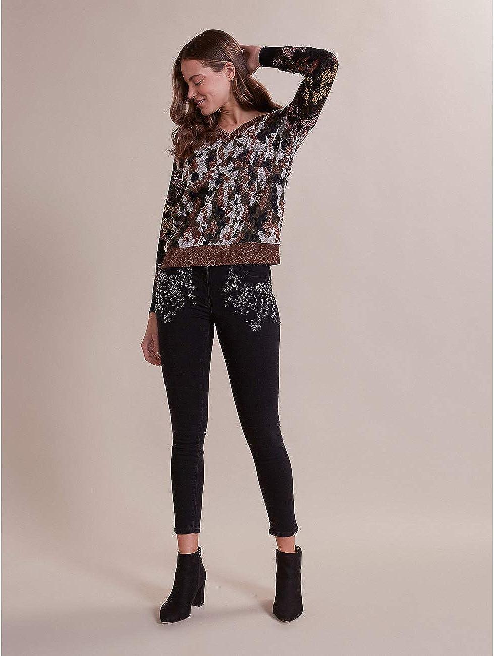 Jeans Skinny con Pietre e castoni Oltre Italian Size