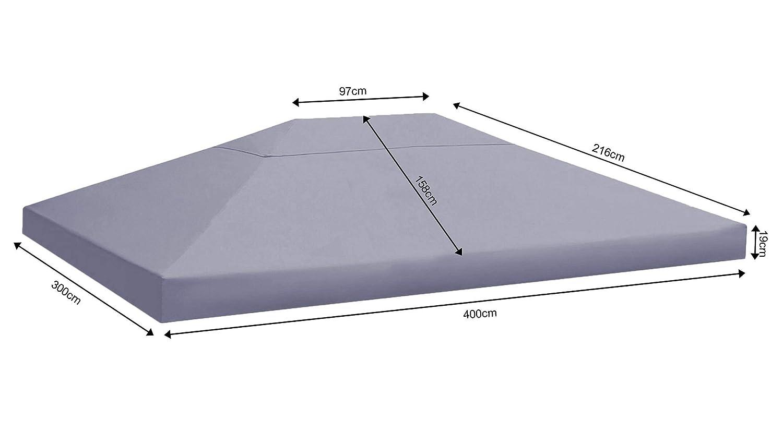 Quick-Star Repuesto para Hojas Cenador 3/x 4/m Carpa Techo Gris para Almohada