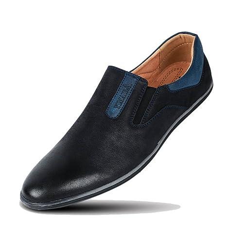 Zapatos de los Hombres cómodos Slip-on Hombres Mocasines Moda Casual Flats Zapatos: Amazon.es: Zapatos y complementos