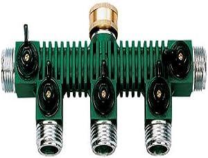 Orbit 62019 5-Way Zinc Hose Faucet Valve Manifold