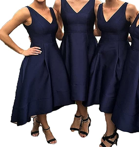 Inmagicdress High Low Bridesmaid Dresses Navy Blue Plus Size ...