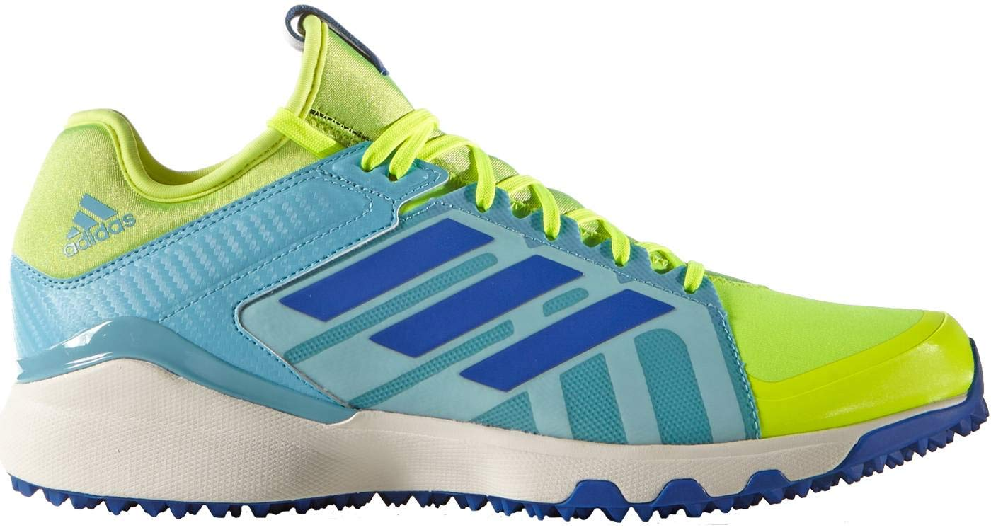 adidas Men's LUX Field Hockey Shoe, Solar Yellow/Collegiate Royal/Vapour Blue, 11 M US by adidas