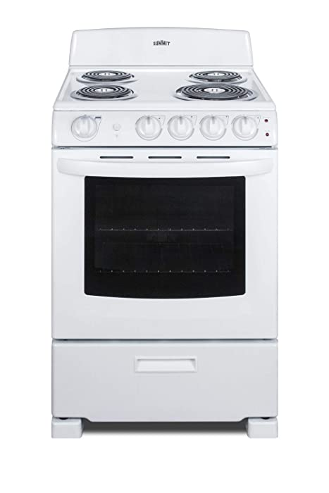 Summit RE2411W 24 Inch Wide 2.9 Cu. Ft. Free Standing Electric Range with Sensor Cooking