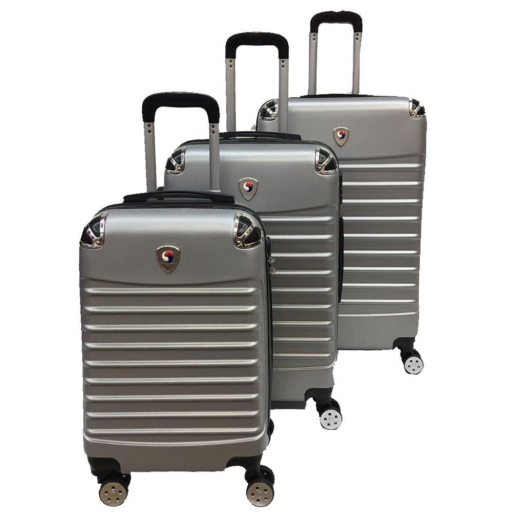 4 Wheel Drive Luggage Set Trendy 3 pcs Luggage Travel Set Spinner Travel Suitcase Set Travel luggage organizer bag Travel luggage set Spinner suitcase set (Grey)