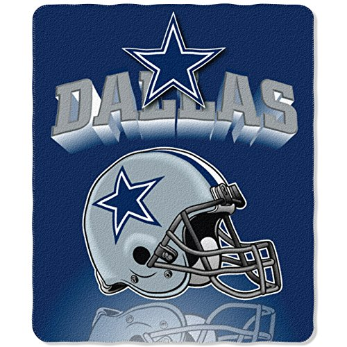 The Northwest Company NFL Dallas Cowboys Gridiron Fleece Throw, 50 x 60-inches (Fabric Cowboys Dallas)