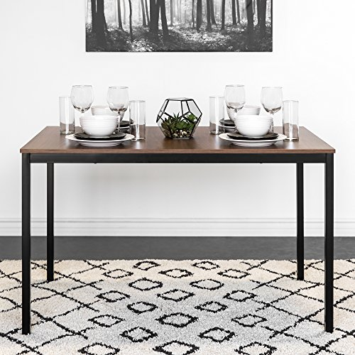 Dining Rectangular Table Modern (Best Choice Products 48in Multipurpose Modern Rectangular Dining Table Office Desk w/Wood Finish Tabletop, Steel Frame)