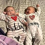 AOMOMO Unisex-Baby Newborn Twins I Love Mummy I
