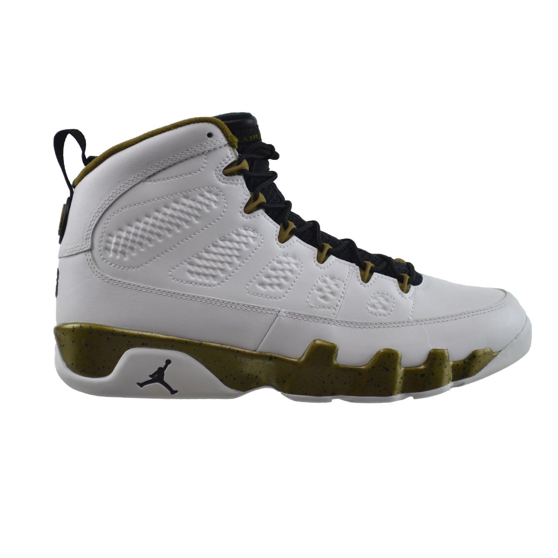 e5686841de1 Amazon.com | Jordan Air 9 Retro Men's Basketball Shoes White/Black-Militia  Green 302370-109 (10.5 D(M) US) | Basketball