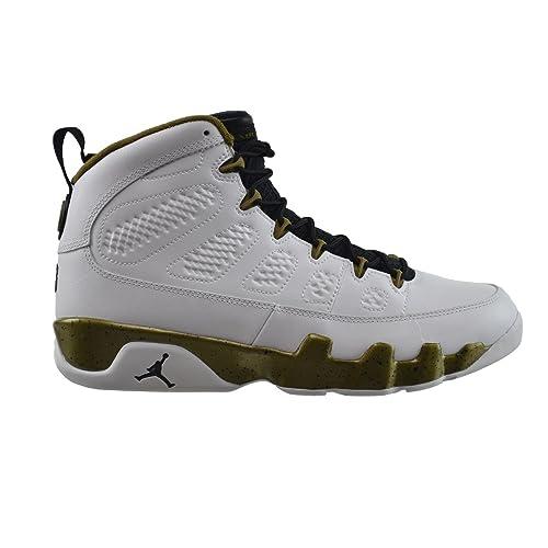 6c95e7cc5c35 Jordan Air 9 Retro Men s Basketball Shoes White Black-Militia Green  302370-109