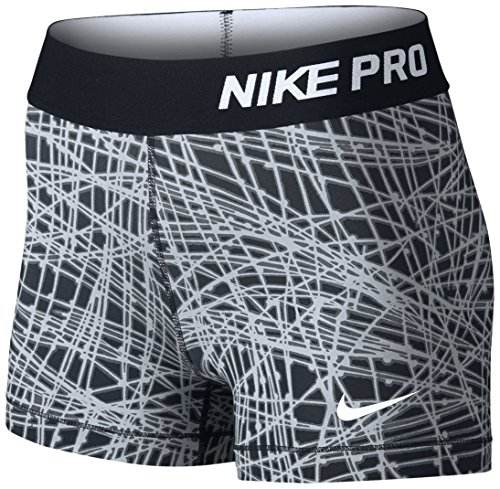 NIKE PRO COOL 3 SHORT TRACER (Small, BLACK/WOLF GREY/BLACK/WHITE)