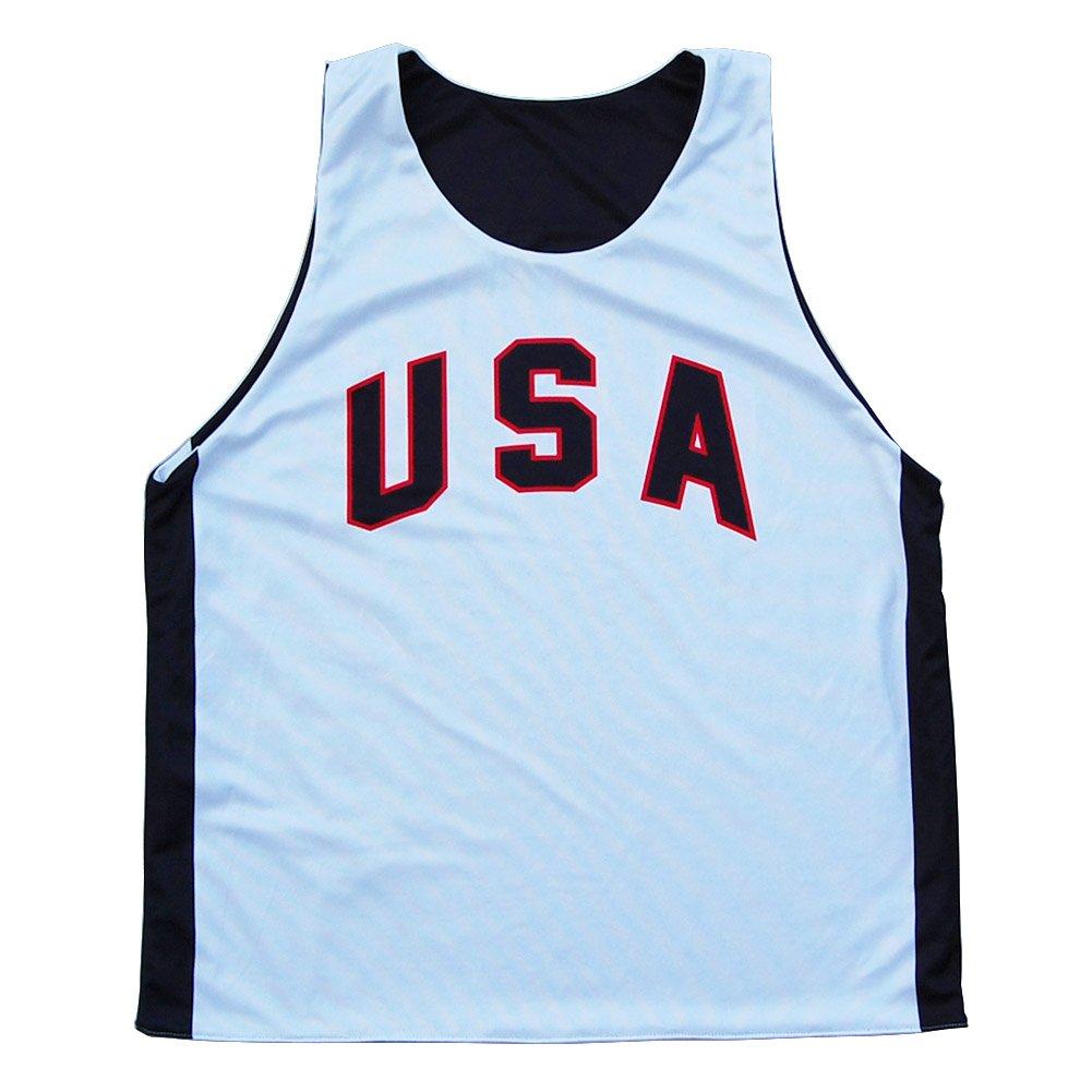 USA Sublimated Basketball Pinnie
