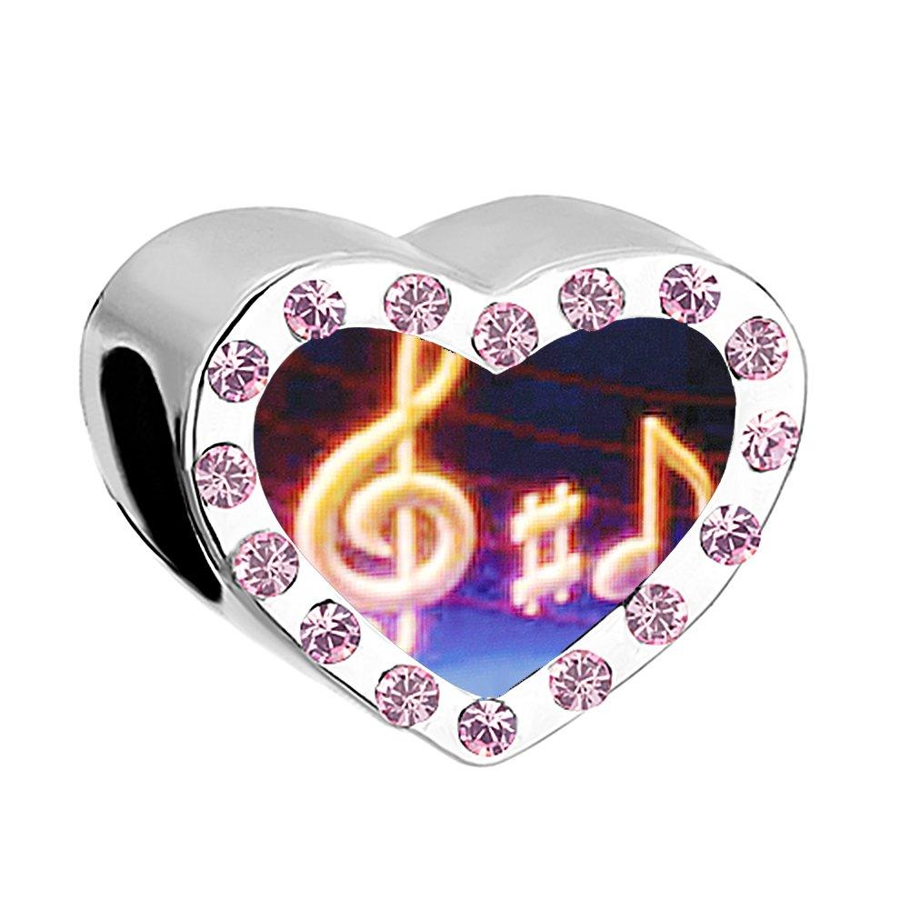 Uniqueen Music Note Charms Beads fit Charm Bracelet pandora charms UQ_DPC_MY817