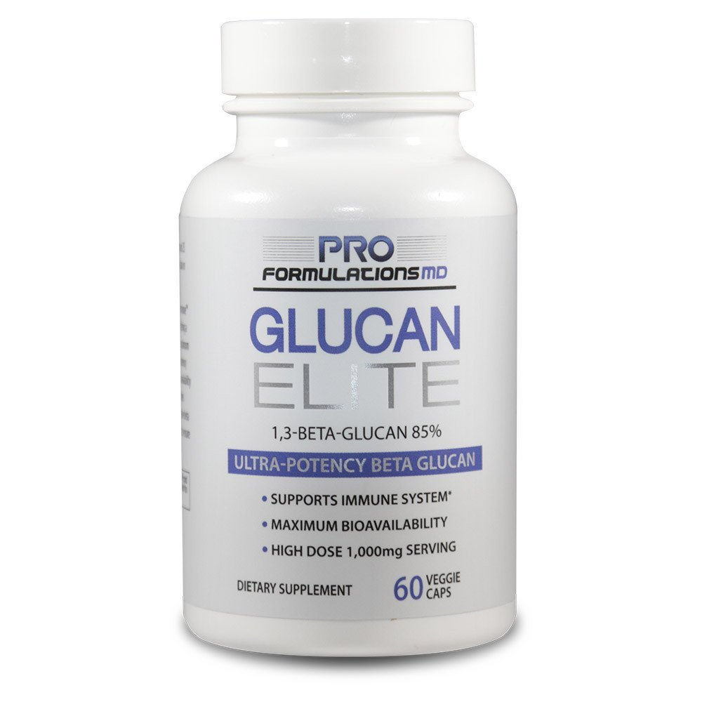 Glucan Elite – 85% Beta 1,3D Glucan 500mg - 60 vcaps | 85% Minimum Active 1,3 Linkage Ultra-Potency Beta Glucan – Highest Bioavailability with BGF-Immune