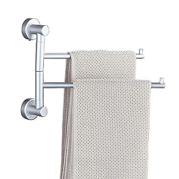 Amazoncom Soqo Bath Towel Holder Wall Mounted Swing Out Towel Bar