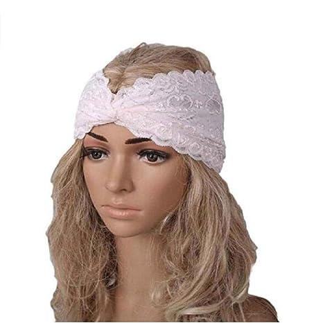 Auxma Moda Mujeres Headwear Twist Sport Yoga Encaje Diadema ...