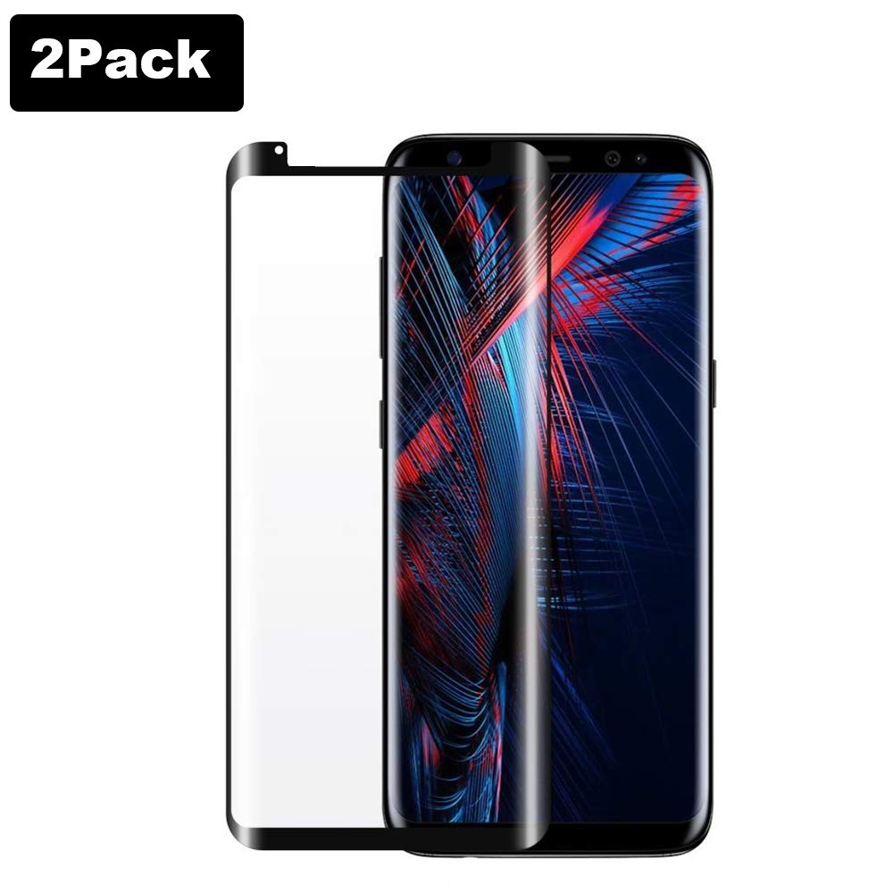 [2 Pack] Galaxy S8 (5.8') Tempered Glass Screen Protector[Update Version], Easy Installation [Case-Friendly] [Anti-Bubble] Tempered Glass Screen Protector Samsung Galaxy S8 Kathy DT