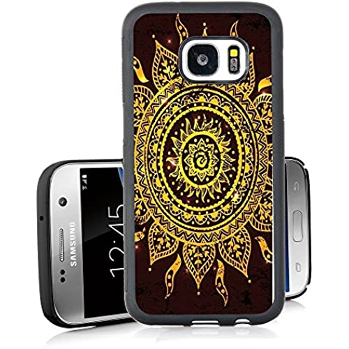 S7 Case Samsung Galaxy S7 Black Cover TPU Rubber Gel - Sunflower Totem Sales