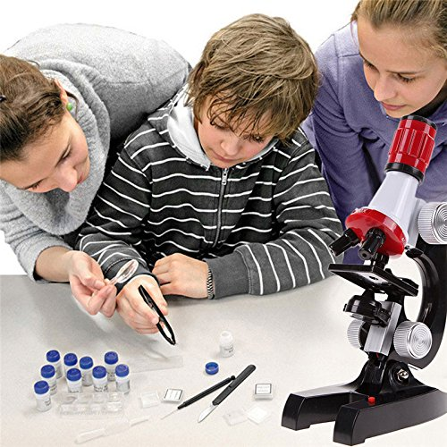 OriGlam Microscope Kits Science Kits for Kids Beginner Microscope Kit With LED 100X, 400x, and 1200x Magnification Kids Student Science Toys by OriGlam