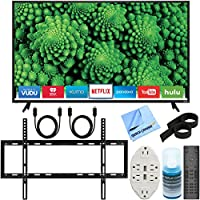 Vizio D55f-E2 D-Series 55 Full Array LED Smart TV + Slim Flat Wall Mount Ultimate Bundle + Transformer Tap USB with 6-Outlet Wall Adapter and 2 Ports Kit