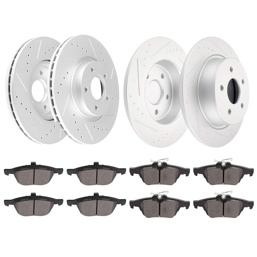 2005 Ford Escape w//Rear Disc Brake OE Replacement Rotors Metallic Pads F+R