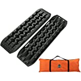 OFFROAD BOAR Recovey Tracks Sand Mud Snow Traction Boards(2Pack,BLACK)