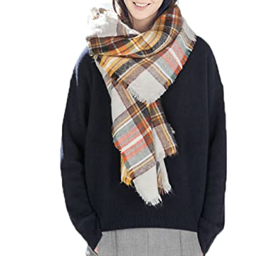6b351b2f6 Image Unavailable. Image not available for. Color: Women's Large Tartan  Scarf ...