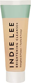 product image for Indie Lee Brightening Cleanser - Exfoliating Gel-to-Scrub Face Wash + Makeup Remover with Vitamin C + Antioxidants to Help Visibly Brighten, Firm + Protect Skin (1oz / 30ml)