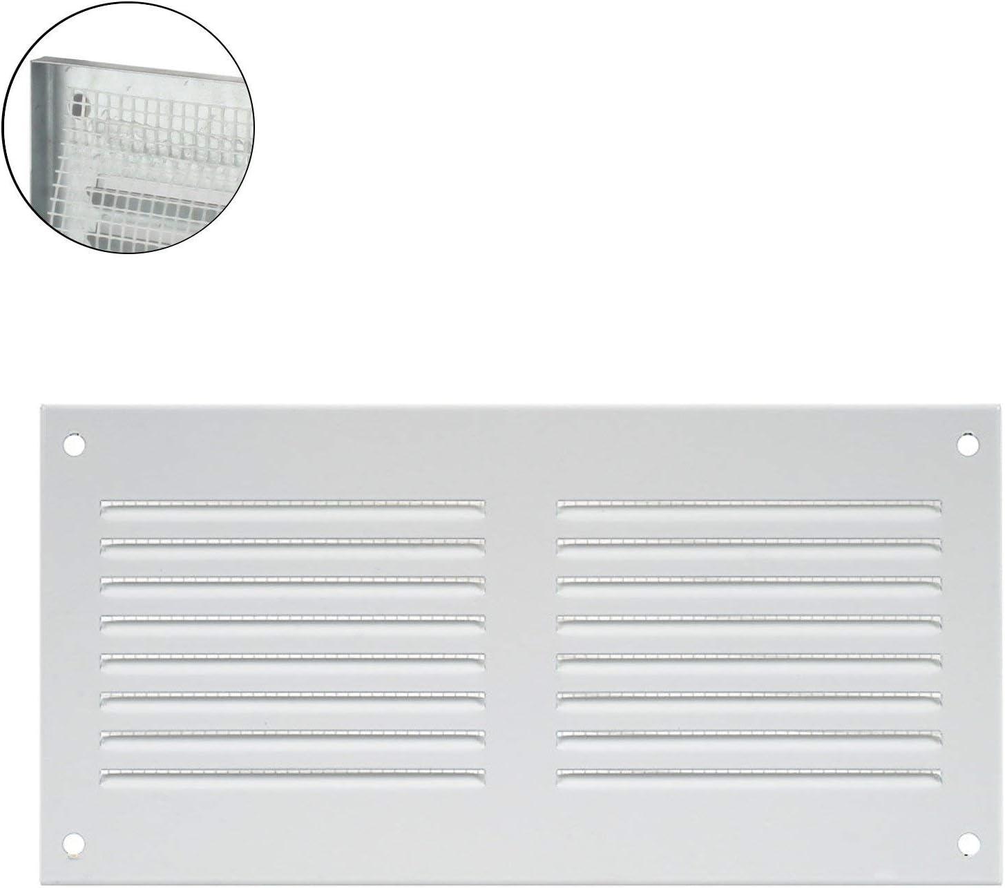 150/x 60/mm pour la salle de bain et la cuisine Lot de 2grilles de ventilation/de porte en plastique ASA de qualit/é sup/érieure blanc