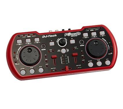 DJ-Tech Poket DJ Duo - Mesa de mezclas (con entrada USB ...