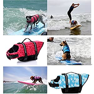 TESOON Designer Dog Life jacket with paw Pet saver vest coat floattion float aid buoyangcy