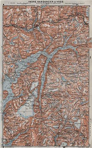 Amazoncom INNER HARDANGERFJORD Topomap Folgefonna Norway Kart - Norway map amazon