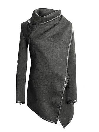 ... Alto Manga Larga Otoño Invierno Chaquetas Rompevientos Coat Outcoat Color Sólido De Originales Marca Moda Casual Abrigo: Amazon.es: Ropa y accesorios