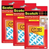 "Scotch Double Sided Foam Tape Squares 1"" 20 Nos (2.4 x 2.4 cm/3 m) Pack of 3"
