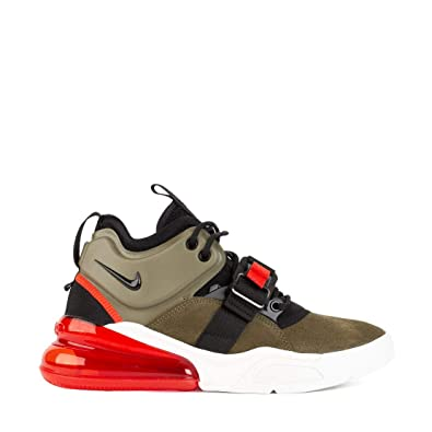 finest selection 4240d f7c2b NIKE Men s high-top Sneakers AIR Force 270 in Green Suede AH6772-200   Amazon.co.uk  Shoes   Bags