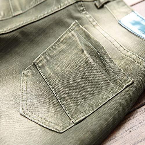 Denim Jeans 31 Extensible Noir Pour Déchiré couleur Vert Slim Jean Coupe Homme Taille Skinny Vert En Zgsjbmh Hommes Spwdqp0