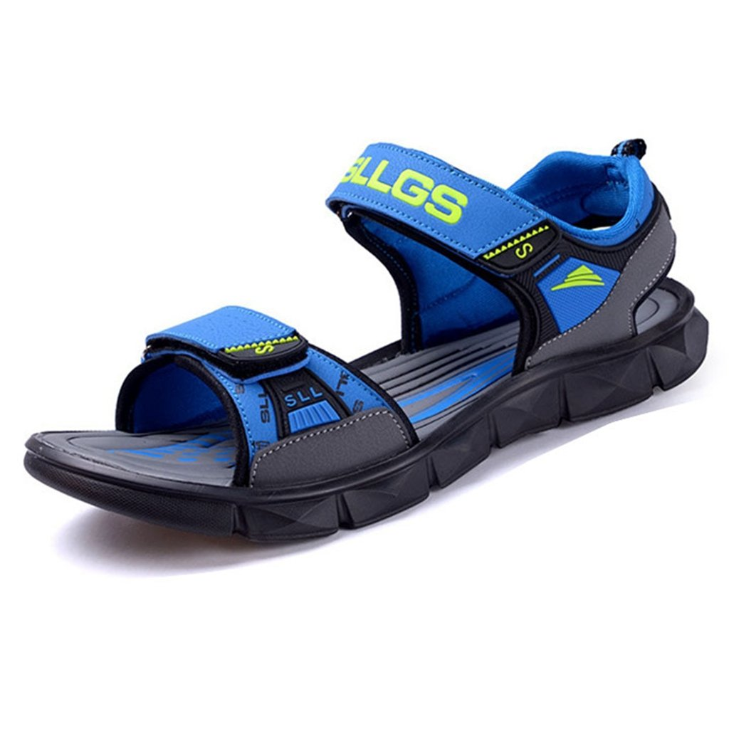 Boys & Girls Kids Summer Outdoor Soft Leather Open-Toe Strap Casual Athletic Sport Sandals