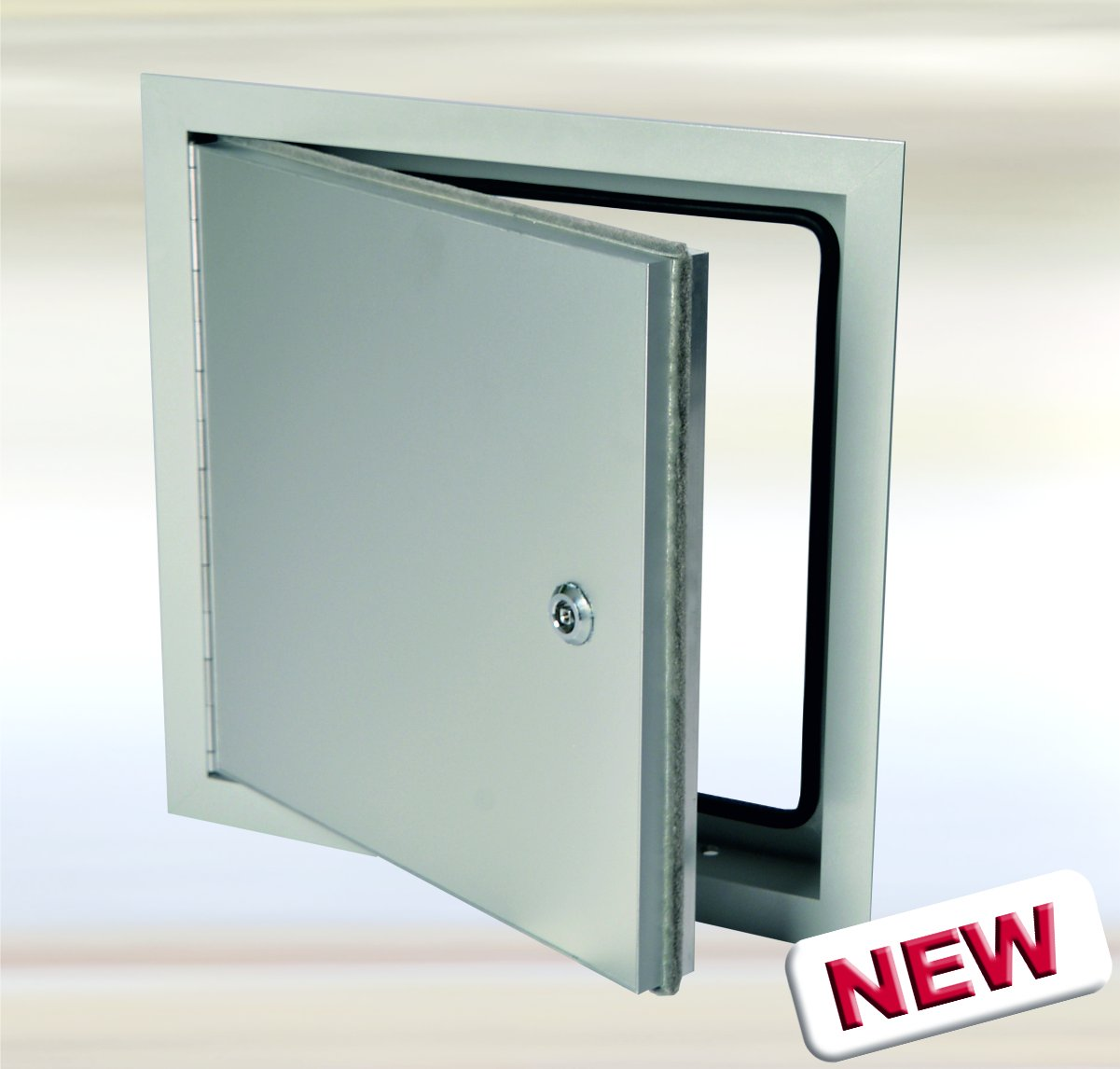 Exterior Access Door 12 x 12 System EXT - Weather resistant / Aluminum door equipped with a stainless steel piano hinge