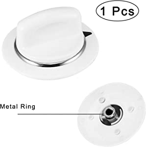 WE1M654 Timer Control Knob with Reinforced Metal Ring Replacement Part Compatible with General Electric GE Dryer Part Replaces AP3995164 PS1482196(1 Pcs)