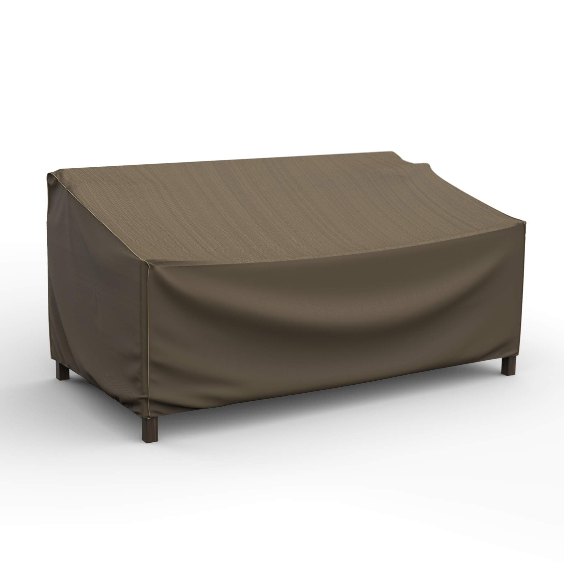 EmpireCovers NeverWet Platinum Outdoor Patio Loveseat Cover, Large (Black and Tan Weave)