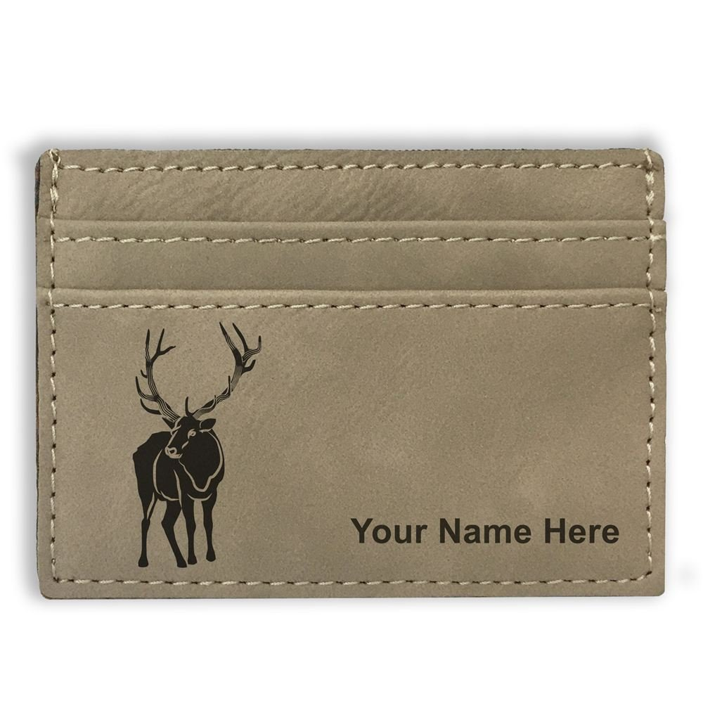 Personalized Engraving Included Money Clip Wallet Elk