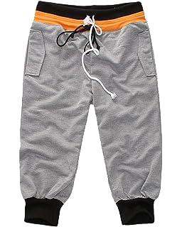 Moollyfox Hombre 3 4 Pantalones Cortos de Deporte Gimnasio Jogging Shorts ecd9ccd352ec
