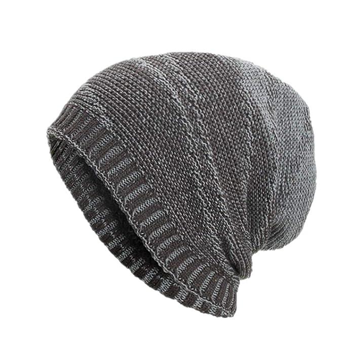 7f72d6c2e0b Celucke Beanie Herren Frauen Strickmützen Caps Hüte Warm Ausgebeult Häkeln  Häkeln Winter Wolle Stricken Mützen