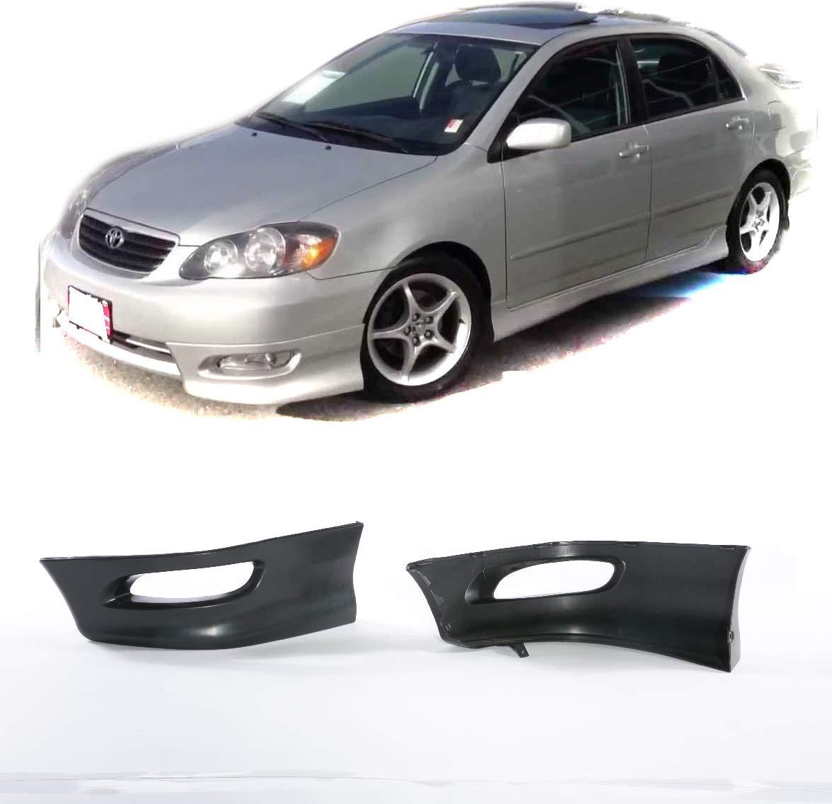 Toyota Corolla 05-08 S Style Front L+R Lower Body Kit Lip Spoiler PP Black