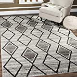 Safavieh TUN296K-5 Tunisia Collection and Black Area Rug, 5'1″ x 7'6″, Grey Review