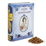NovelTea Tins | Pride and Peppermint | 2 oz Organic Rooibos Tea Inspired by Pride and Prejudice In Decorative Tea Book Tin Caddy | Cute Literary Tea Gifts For Women | Jane Austen Gifts