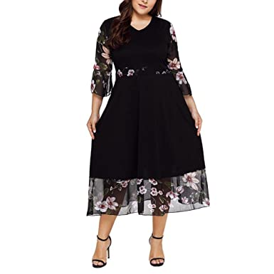 f9cca593de17d DAYLIN Newest Clearance Women Lady Midi Dresses V Neck Wrap Chiffon ...