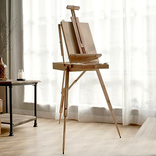 Easels A Caballete Pintura de Arte portátil Pintura al óleo Caja ...