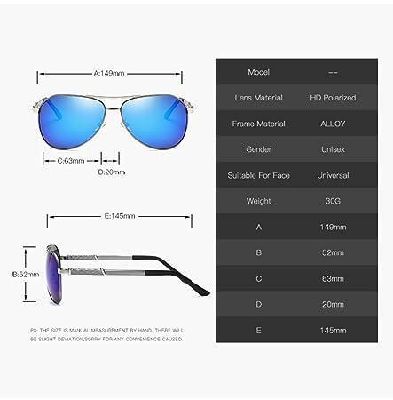 LQABW Männer Polarisierte Sonnenbrille Metallrahmen UV-Schutz Glareless Objektive Retro Pilot Oval,GoldBoxGrey
