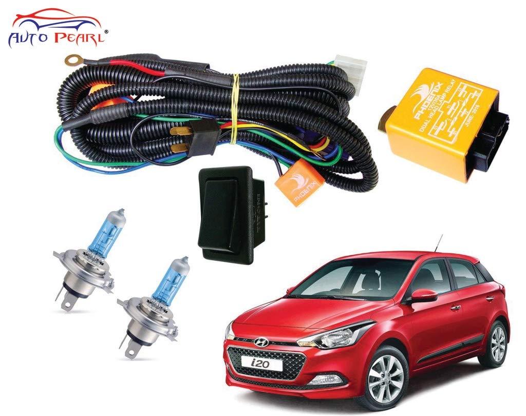 Autopearl Halogen Headlamp Wiring Harness Kit for Hyundai